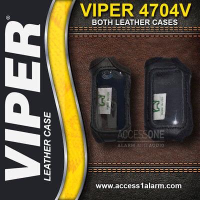Viper 4704V Protective LEATHER Remote Control Cases For Both Remotes 7752V 7652V