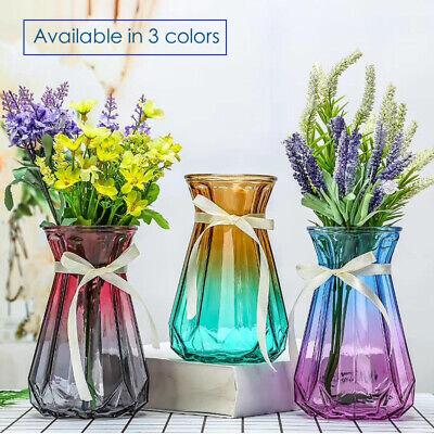 Retro Glass Vases Clear Gradient Multi Colored Art Decorative Flower Vase Décor
