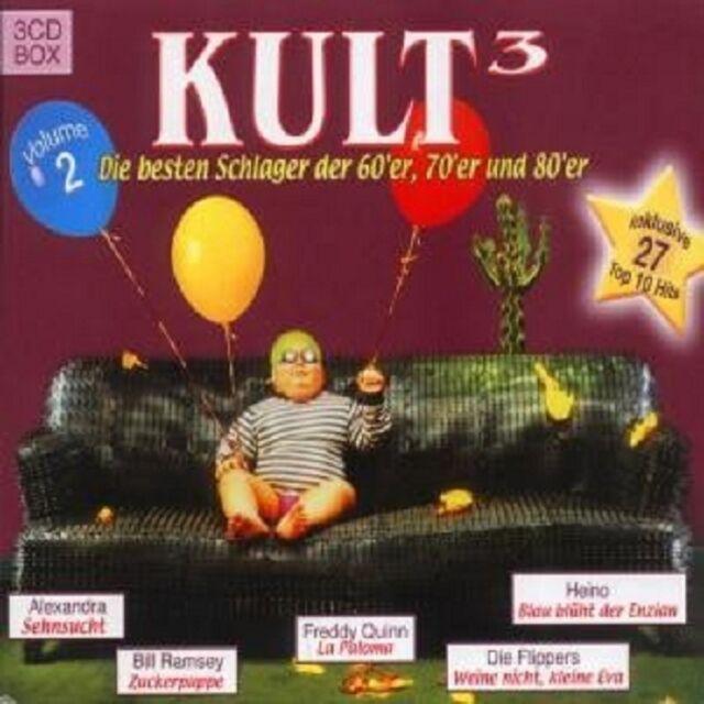 KULT3 DIE BESTEN SCHLAGER VOL.II 3 CD BOX MIT FLIPPERS