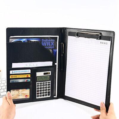 A4 Document Bag File Folder Clip Business Portfolio Board Conference Notebook