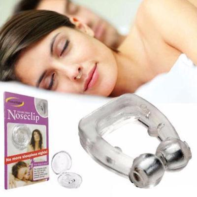 Silicone Magnetic Anti Snore Stop Snoring Nose Clip Sleeping Aid Apnea Guard
