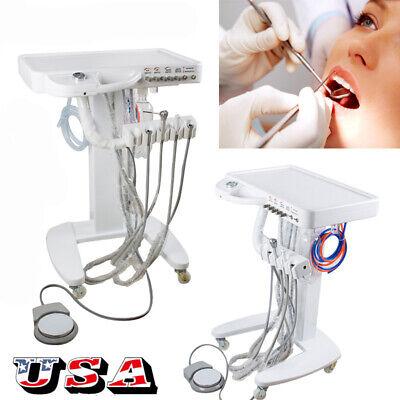 Mobile Dental Delivery Turbine Unit Cart Treatment Work W Compressor 3w Syringe