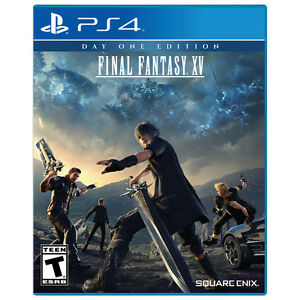 Final Fantasy XV Day One w/ controller skin - PS4 - New / Sealed
