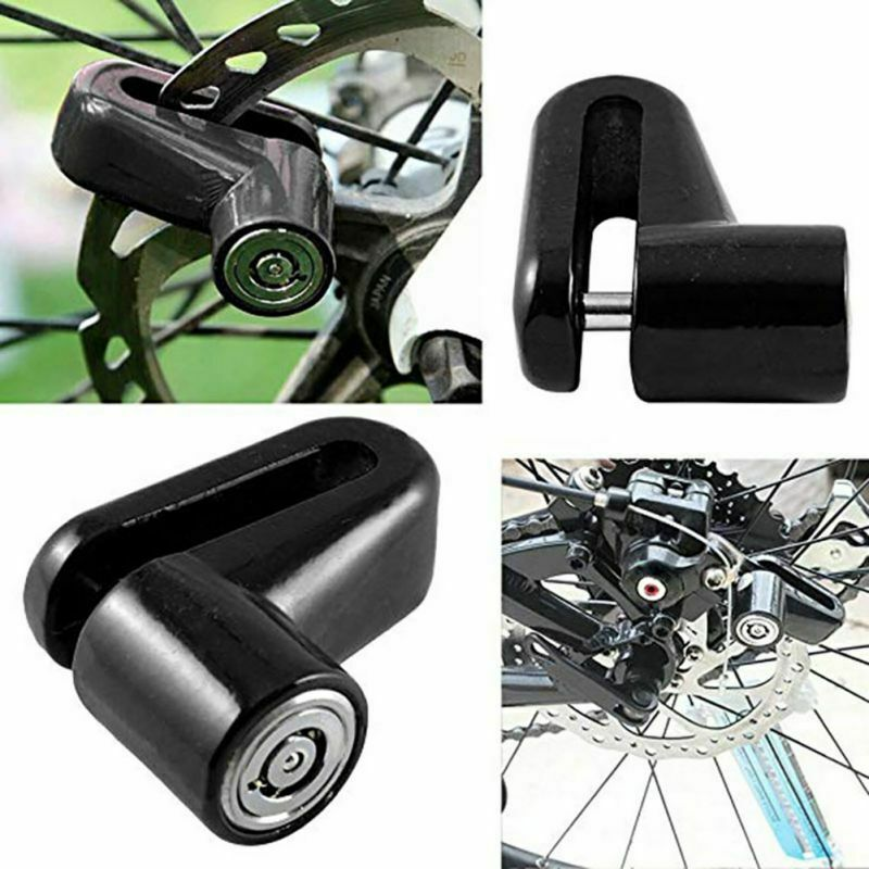 Motorcycle Bicycle Scooter Bike Safety Anti-theft Disk Disc Brake Rotor Lock BK Bicycle Accessories