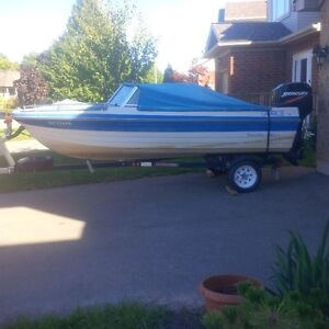 14ft Bowrider Boat, 50hp Mercury Outboard Motor, Trailer ++++