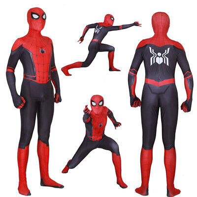 Adult Kids Spider-Man Far From Home Peter Parker Zentai Cosplay Costume Suit USA](Adult Spider Costume)