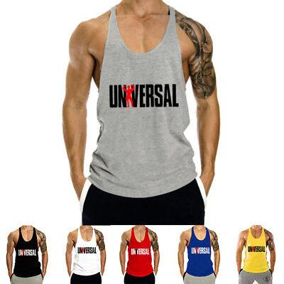 Men's Workout Undershirts Tank Top Bodybuilding Gym Muscle Fitness Stringer Tee Cotton Stringer Tank Top