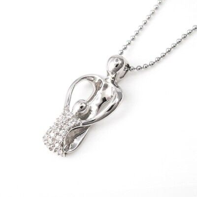 (925 Sterling Silver Loving Family Mother and Child Pendant FREE Chain Necklace)