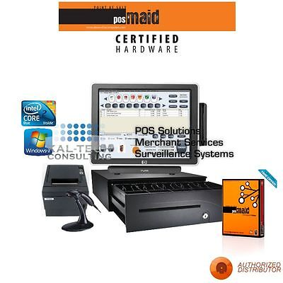 Pos Maid For Liquor Stores All-in-one Station Complete Bundle 3gb Ram Ssd Hdd