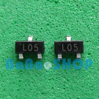 60pcs L05 78l05 L78l05 7805 Positive-voltage Regulators 5v 100ma Sot-23 Smd New