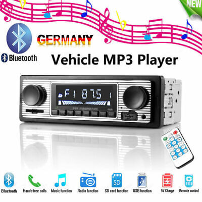 12V Bluetooth Retro Autoradio MP3 Player Stereo USB AUX Klassisches Autoradio Klassisches 12