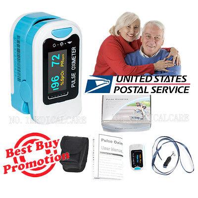 CONTEC CMS50N OLED Fingertip Pulse Oximeter, SpO2 pr Blood oxygen Monitor, Pouch