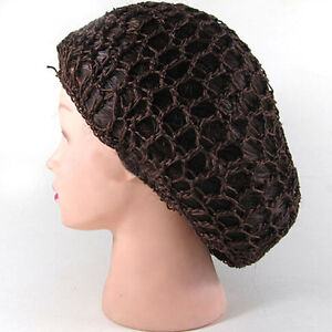 Crochet Hair On Net : ... Soft Rayon Snood Hair Net Crochet Hairnet Knit Hat Cap Hairband Hot