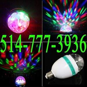 Rotating Ball E27 3W RGB Lamp LED Stage Party Spot Lights Effect