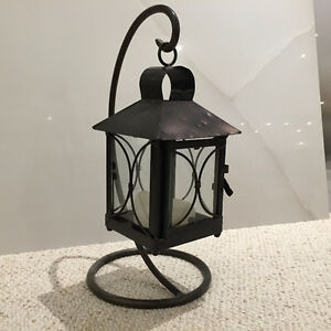 CANDLE TABLE LANTERN ON STAND
