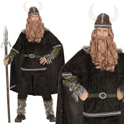 Wikinger Krieger Herren Kostüm Gr. L 52 - NEU Ragnar Barbaren Mittelalter  #0598 (Mittelalter Krieger Kostüm)
