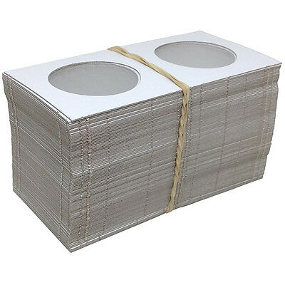 """100 2½"""" x 2½"""" MYLAR CARDBOARD FLIPS FOR COLLECTOR CASINO CHIPS - FREE SHIPPING *"""