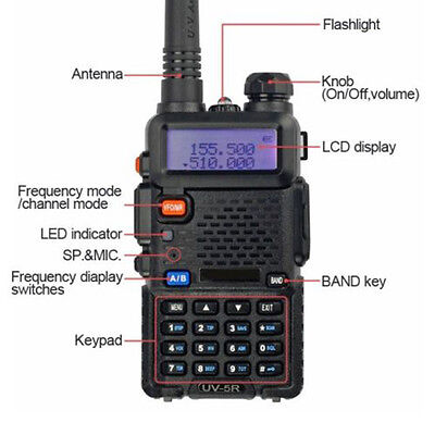 UV-5R Dual VHF/UHF Two Way Ham Radio Transceiver Walkie Talkie BAOFENG NEW* on Rummage