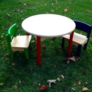 Toddler-Tough Kids Table & Chairs Set