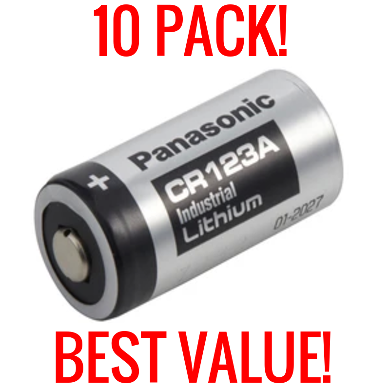 10 PACK PANASONIC LITHIUM CR123A 3V CR17345 CAMERA PHOTO BAT