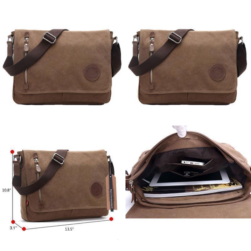 EGOELIFE Messenger Bag Crossbody Shoulder Sling Laptop Satch