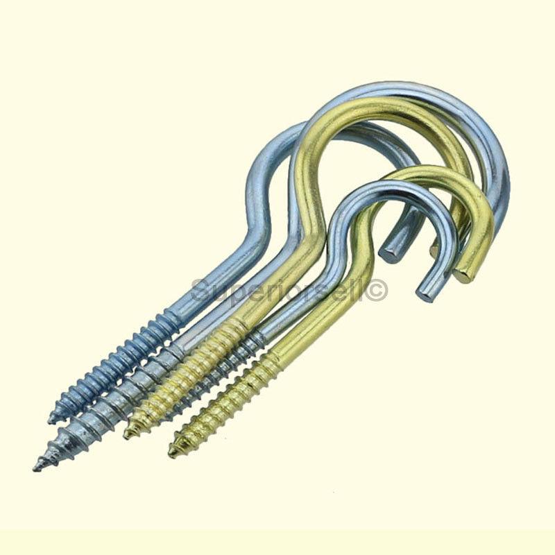 1# 2# 3# 4# 5# 6# 8# 10#12#14#16# Heavy Duty Plain Screw Cup Hooks-Copper Plated