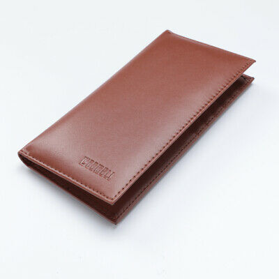 New Leather Checkbook Cover Card Holder Wallet W/ ID Window Unisex RFID Blocking Checkbook Cover Womans Wallet