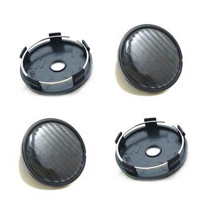 4Pcs  60 58Mm Carbon Fiber Surface Car Suv Wheel Center Hub Caps Cover Brilliant