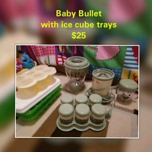 Baby bullet with ice cube trays