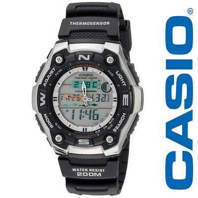 New Casio Mens Active Dial Multi Task Gear Sport Watch Aqw101 1Acf Black Silver