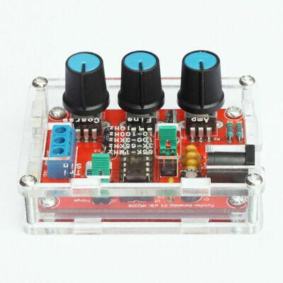 Xr2206 Function Signal Generator Diy Kit Sine Output 1hz-1mhz Acrylic Case