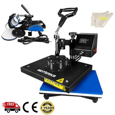 12x15 5in1 Combo Heat Press Transfer Digital Machine T-shirt Hat Mug Plate Cap