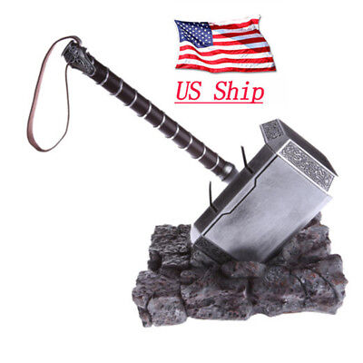 US SHIP AVENGERS THOT HAMMER 1:1 REPLICA PROP MJOLNIR COSPLAY HALLOWEEN PROPS