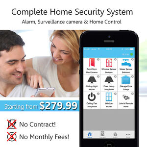 Home Alarm Security System -  Smartphone - No monthly fees.