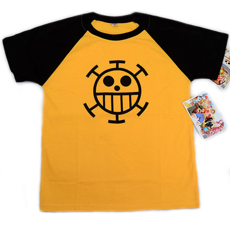 Anime One Piece Trafalgar Law Cotton T-shirt Short Sleeve Tshirt Casual Tops Tee