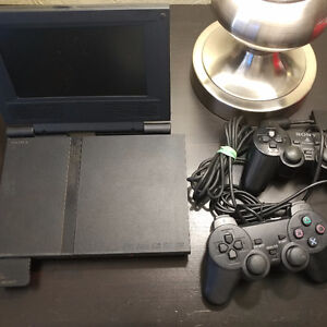 PS2 Slim with hori 7 inch screen with freemcboot memory card
