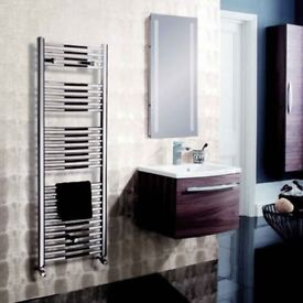 Bauhaus Design Chrome Towel Radiator 1420x500mm 1559BTU