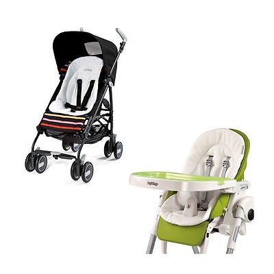 Peg Perego Baby Cushion Wendeauflage Sitzverkleinerer für Hochstuhl und Kinderwa