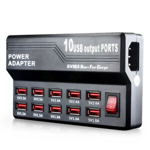 Chargeur / 10 Ports USB Charger 5V/12A