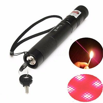 G303 Red Laser Pointer Pen 532nm Visible Lazer Beam 5mw + Light Star Cap