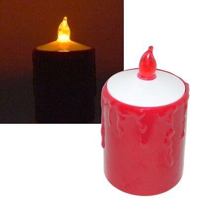 LED Kerze Grablicht Grablaterne Grableuchte Grablampe / Heitronic rot Kunststoff