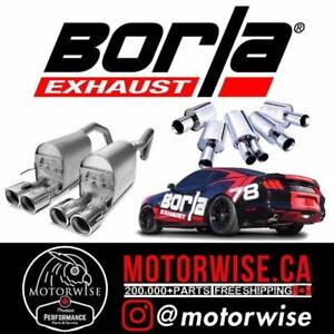 Borla Exhaust Systems | Shop & Order Online at www.motorwise.ca | Fast Shipping | Find a Lower Price? We will Beat it!