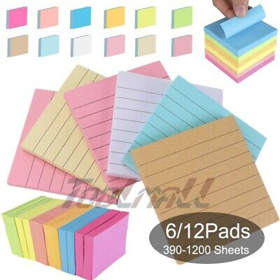 Colour Sticky Post Notes Remove It Pop Up Memo 75mm X 75mm 3x3in 390-1200 Sheets