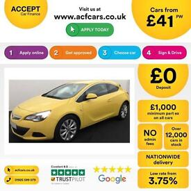 Vauxhall/Opel Astra GTC 2.0CDTi 16v FROM £41 PER WEEK.