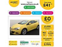 YELLOW VAUXHALL GTC 1.4 T LIMITED EDITION SPORT 2.0 CDTI SRI FROM £41 PER WEEK.