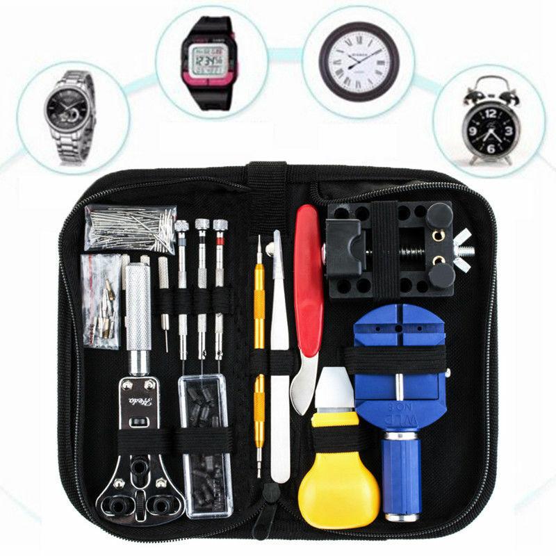 147tlg Uhr Werkzeugset Reparaturset Tool Uhrenarmband Wechsel Gehäuseöffner Set