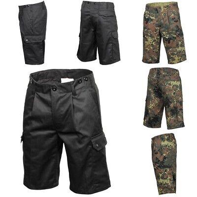 MFH BW Bermuda Short Feldhose Bundeswehr kurze Hose Tarnhose schwarz flecktarn