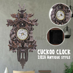 301 Deer Black Forest Cafe Art Swing Vintage Cuckoo Wall Clock Decoration