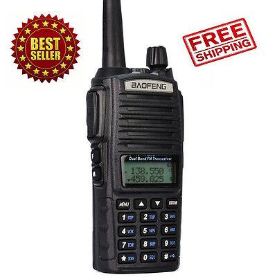 Portable Handheld Police Radio Scanner 2 Way Transceiver HAM Fire Antenna Black