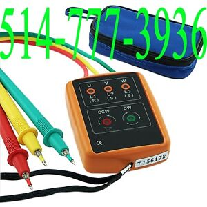 3 Phase Sequence Indicator Digital Sequence 60V - 600V AC Tester